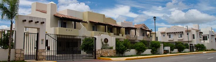 Residencial de viviendas en México.