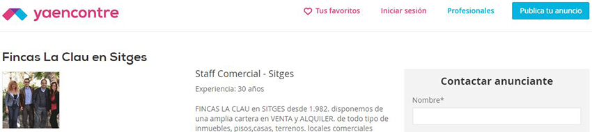 Ficha de inmobiliaria Fincas La Clau en el portal inmobiliario Yaencontre.
