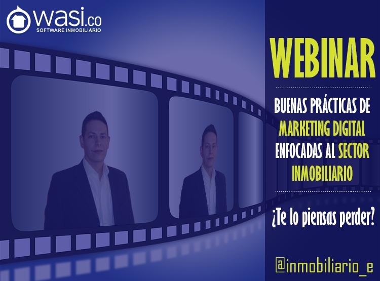Diapositiva principal del Webinar de Wasi sobre Marketing inmobiliario.
