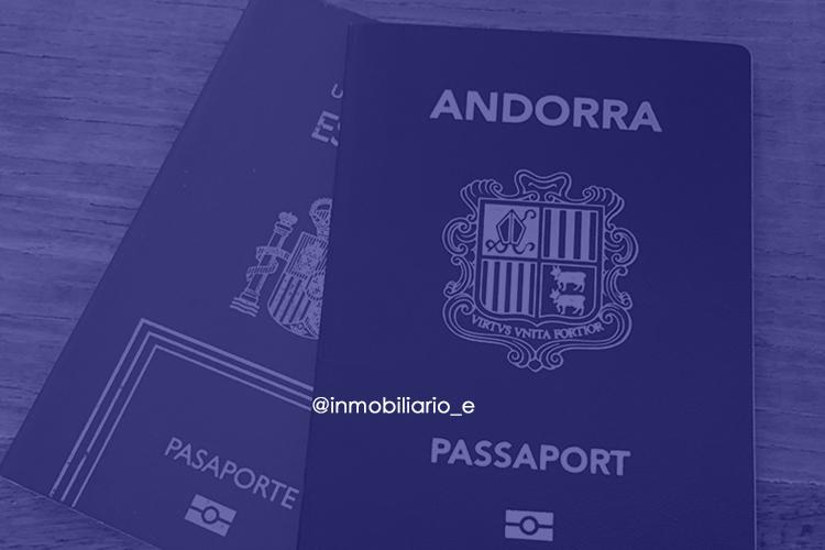 Vista del pasaporte Andorrano